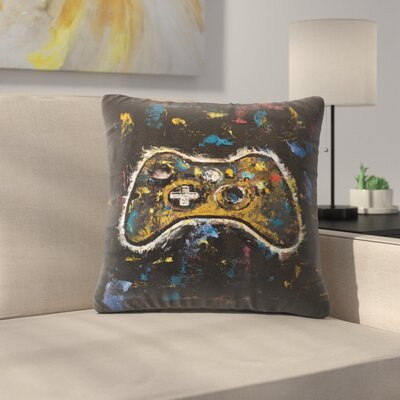Video Gamer Throw Pillow Size: 16 x 16
