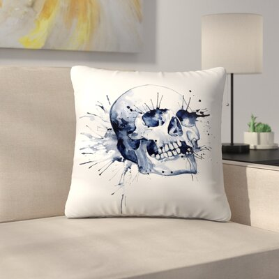 Skull Throw Pillow Size: 16 x 16
