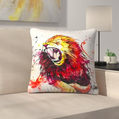 Roaring Lion Throw Pillow Size: 14 x 14