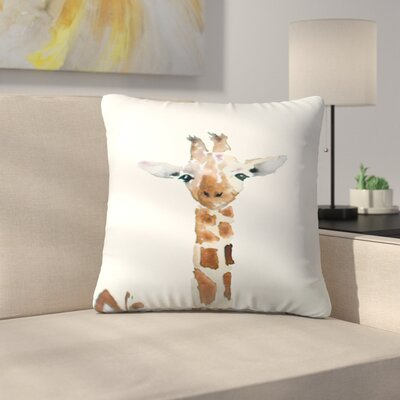 Giraffe Throw Pillow Size: 14 x 14