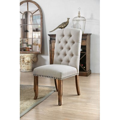 Aubry Upholstered Dining Chair Upholstery Color: Ivory