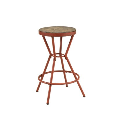 Hardman 24 Bar Stool Color: Red