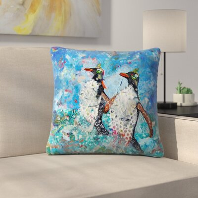 Sunshine Taylor Penguins Indoor/Outdoor Throw Pillow Size: 16 x 16