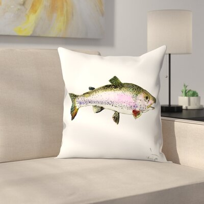 Rainbow Trout 2 Throw Pillow Size: 18 x 18