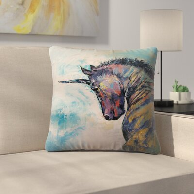 Unicorn Throw Pillow Size: 16 x 16