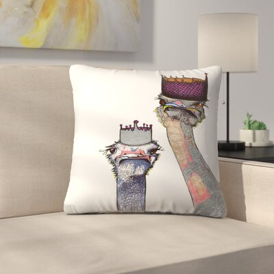 Ostriches Lisa and Amy Throw Pillow Size: 14