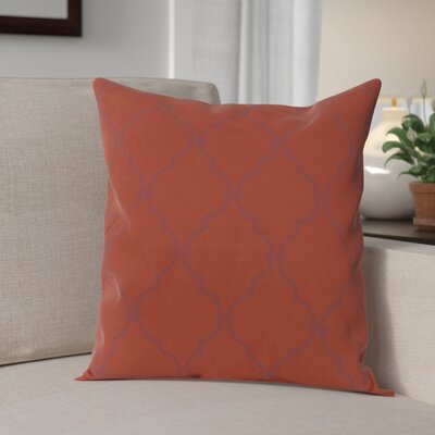 Reuter Trellis Throw Pillow Size: 16 H x 16 W, Color: Picante