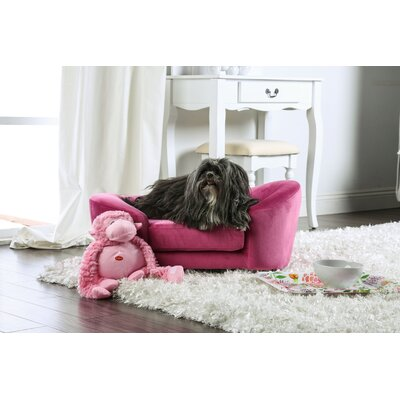 Guggi Flannelette Dog Sofa Color: Pink