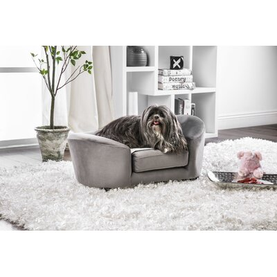 Guggi Flannelette Dog Sofa Color: Gray
