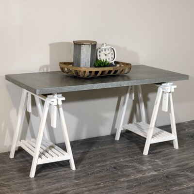 Hoehne Modern Farmhouse Galvanized Dining Table