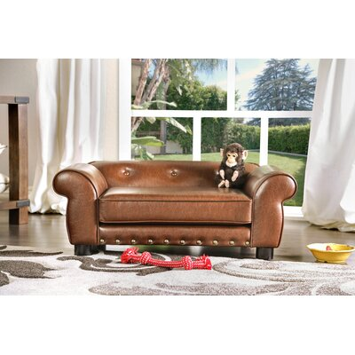 Tramblay Flannelette Dog Sofa Color: Brown