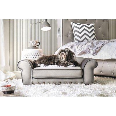 Tramblay Flannelette Dog Sofa Color: Gray