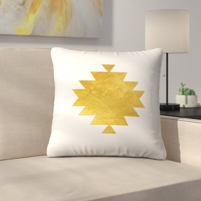 Aztec Tribal Pattern Throw Pillow Size: 18 x 18