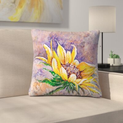 Sunshine Taylor Greeting the Sun Indoor/Outdoor Throw Pillow Size: 16 x 16