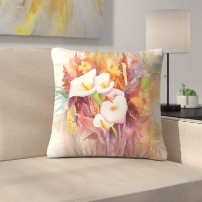 Sunshine Taylor Calla Dance Indoor/Outdoor Throw Pillow Size: 16 x 16