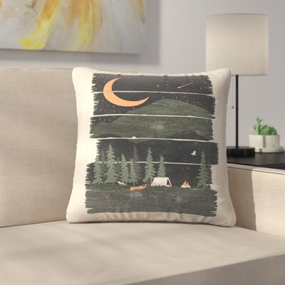 Wish I Was Camping Throw Pillow Size: 14 x 14