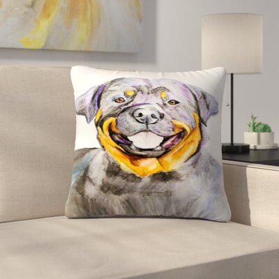 Rottweiler Throw Pillow Size: 16 x 16