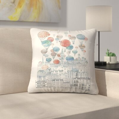 Voyages Over Glasgow Throw Pillow Size: 14 x 14