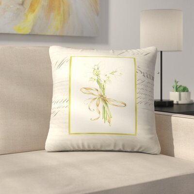 Snowdrops Throw Pillow Size: 14 x 14