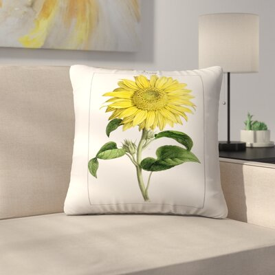 Sonnenblume Throw Pillow Size: 14 x 14