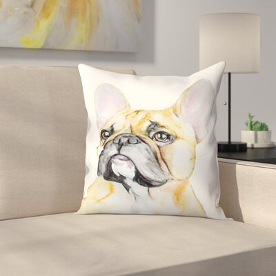 French Bulldog Throw Pillow Size: 14 x 14