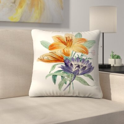 American Flora Lilium Throw Pillow Size: 14 x 14