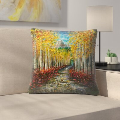 Olena Art Nelly Creek Throw Pillow Size: 16