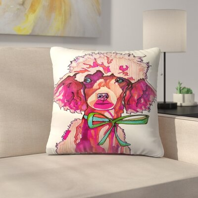 Poodle Paris Throw Pillow Size: 16 x 16