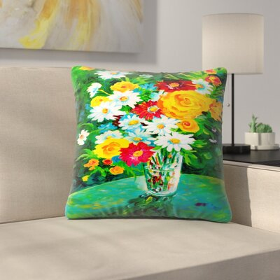 Sunshine Taylor Gardens Parkers Indoor/Outdoor Throw Pillow Size: 14 x 14