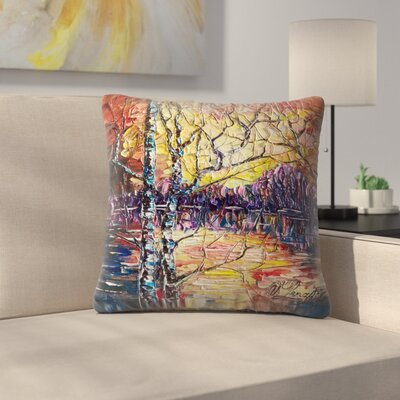 Olena Art A Beautiful Sunset That Was Mistaken for a Dawn Throw Pillow Size: 18 x 18