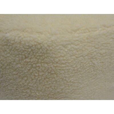 Hockman Lama Animal Ottoman Upholstery: Ivory, Color: Oak