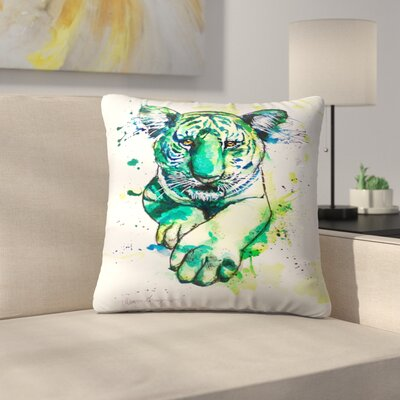 Tiger Throw Pillow Size: 18 x 18
