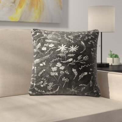 Flowers In Chalk Throw Pillow Size: 14 x 14