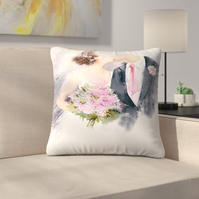 Weddin Kiss Throw Pillow Size: 14 x 14