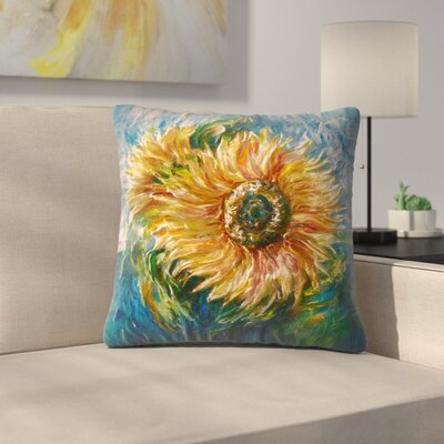 Olena Art Sunflower Throw Pillow Size: 16 x 16