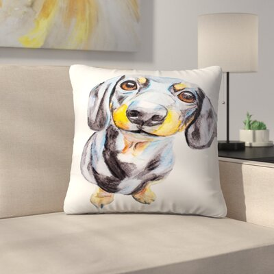 Dachshund Throw Pillow Size: 14 x 14