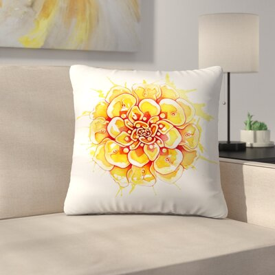 Marigold Mandala Throw Pillow Size: 18 x 18