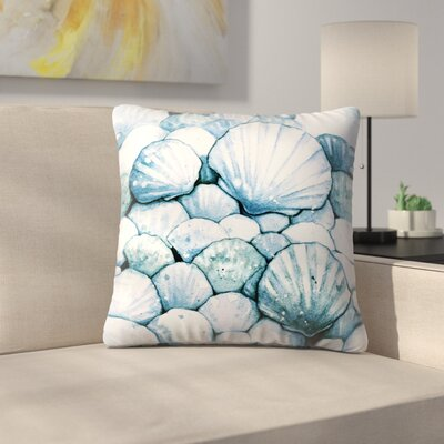 Scallop Shells Throw Pillow Size: 14 x 14