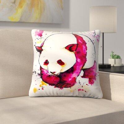 Panda Bear Throw Pillow Size: 20 x 20