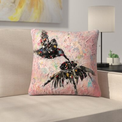 Sunshine Taylor Hummingbird Indoor/Outdoor Throw Pillow Size: 18 x 18