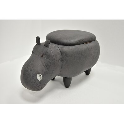 Eure Hippo Animal Storage Ottoman Upholstery: Gray