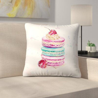 Macaroons Throw Pillow Size: 14 x 14
