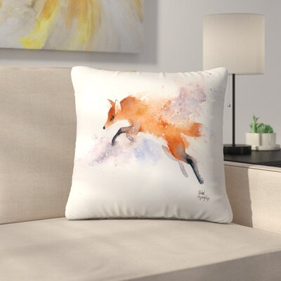 Jumping Fox Throw Pillow Size: 14 x 14