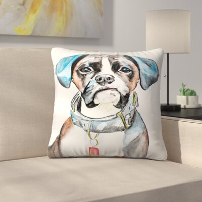 Boxer Throw Pillow Size: 14 x 14