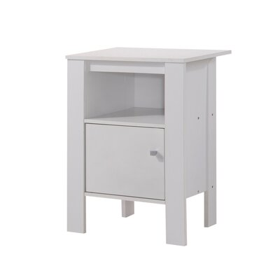 Haledon End Table Color: White