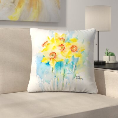 Yellow Narcissus Throw Pillow Size: 14 x 14