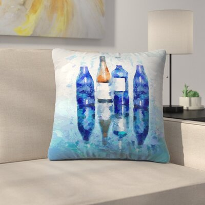 Olena Art Wine Reflection Throw Pillow Size: 18 x 18