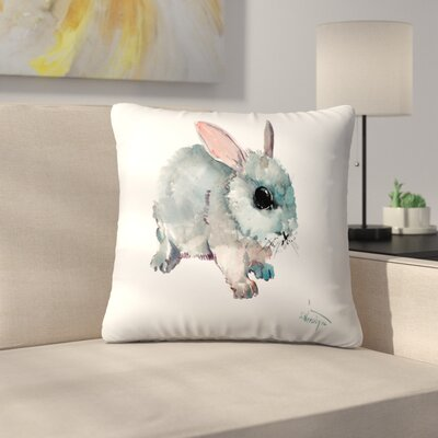 Bunny 2 Throw Pillow Size: 18 x 18