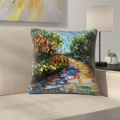 Olena Art Landscape Throw Pillow Size: 16 x 16