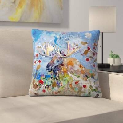 Sunshine Taylor Moose Indoor/Outdoor Throw Pillow Size: 16 x 16